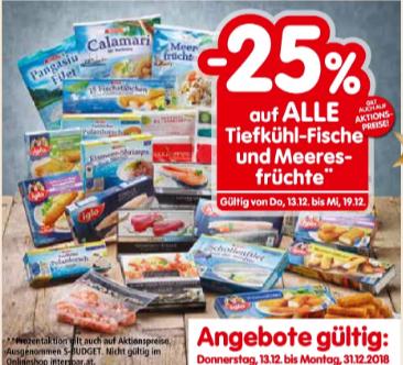 AB 13.12: -25% auf ALLE Tiefkühl-Fische und Meeresfrüchte bei INTERSPAR