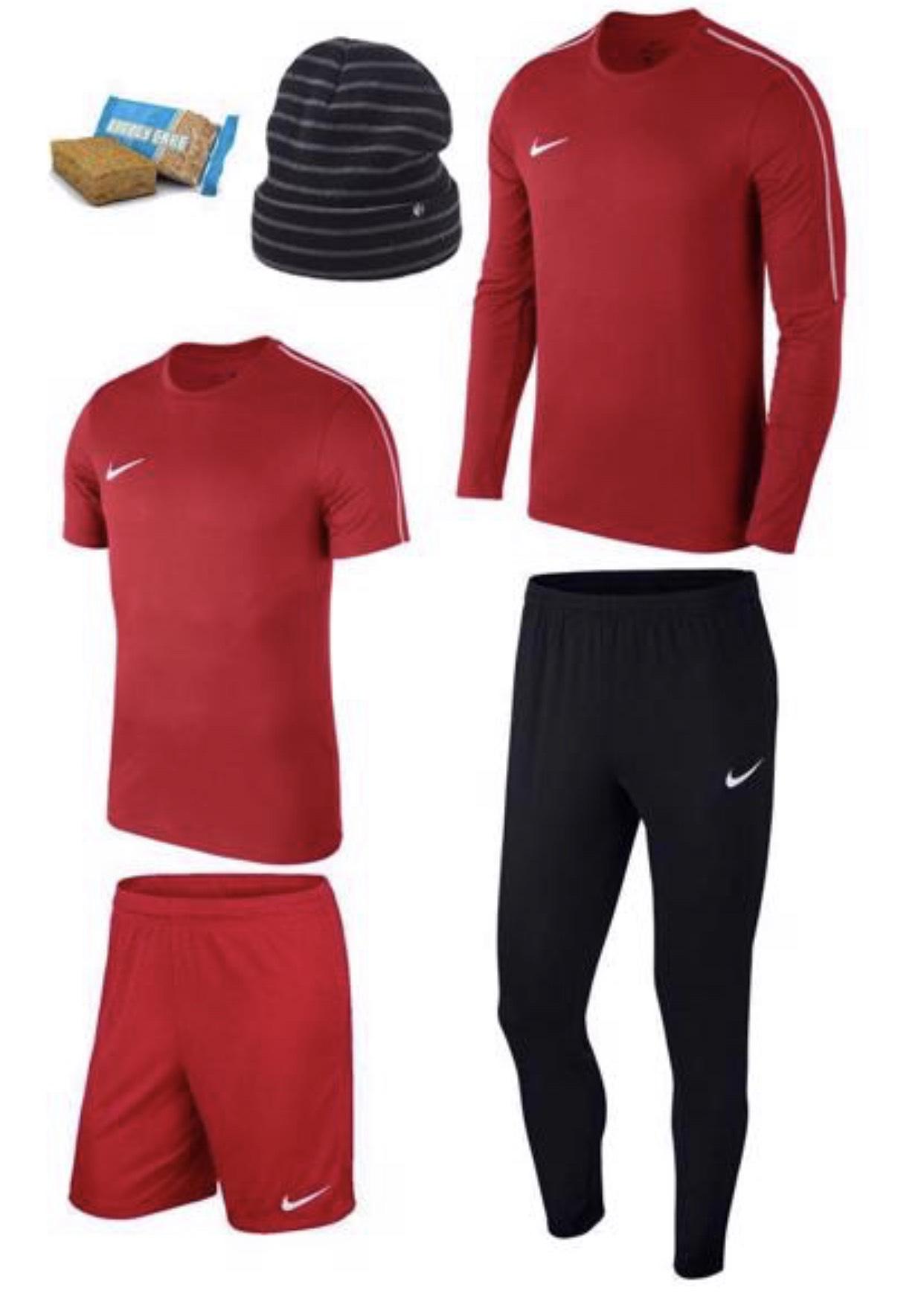Nike Set Academy 18 4-teilig in 5 Farben+GRATIS Haube & Energy Cake Riegel für 47,95€