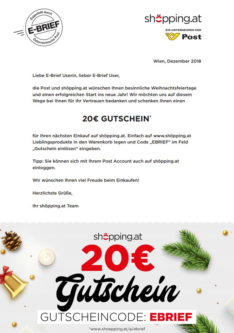 [Shöpping] 20€ Gutschein