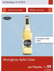 Hofer + Marktguru: Strongbow Apple Cider 0,33l um 0,49€