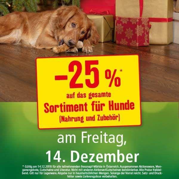 Fressnapf: -25% auf das Hunde-Sortiment