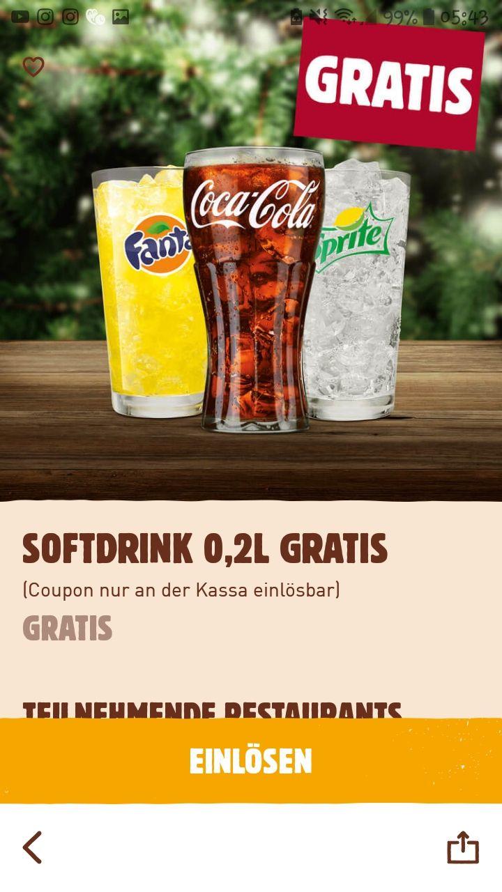 Gratis 0,25 Softdrink