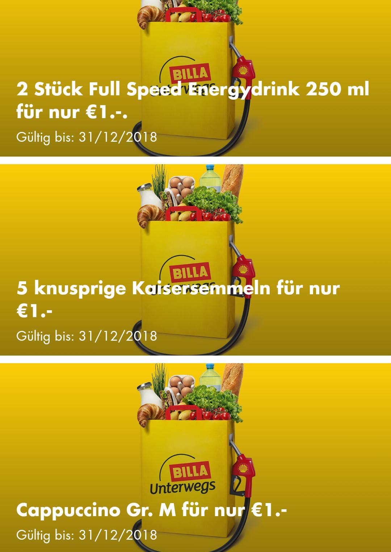 Shell Billa-Aktionen um 1€