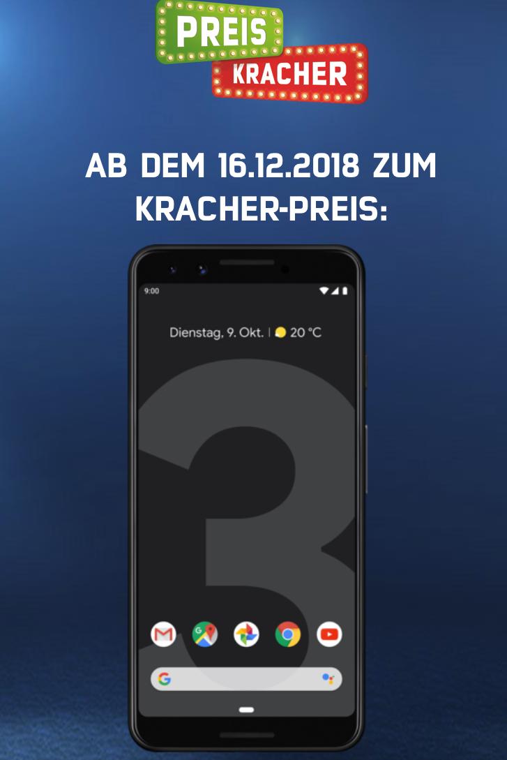 [mobilcom-debitel/Logoix] Google Pixel 3 für 604,13 Euro