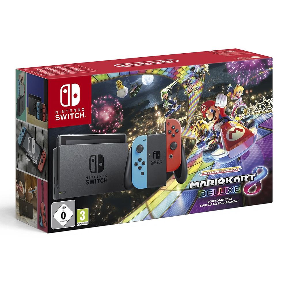 Nintendo- Switch: Konsole + Mario Kart 8 Deluxe