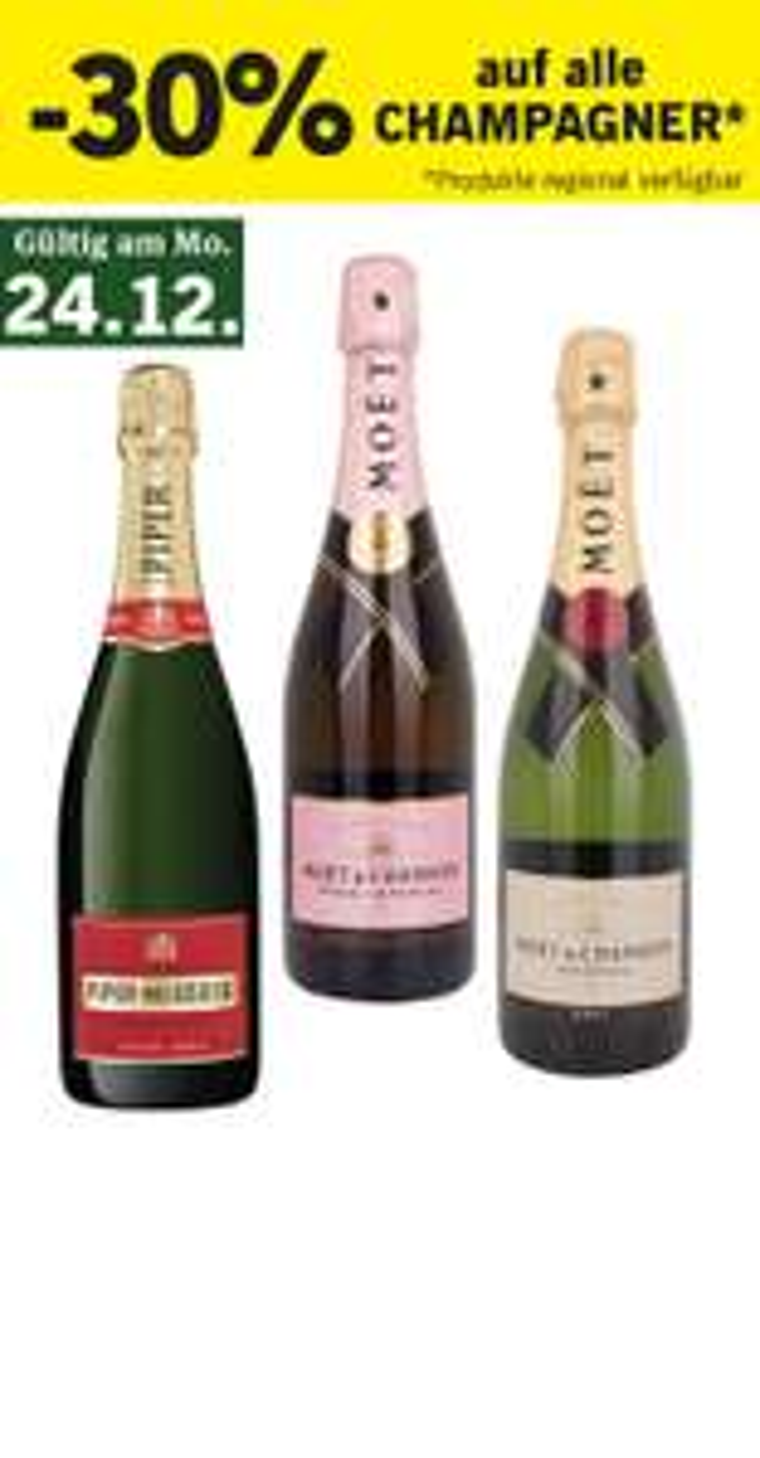 -30% auf Champagner bei Lidl am 24.12.2018