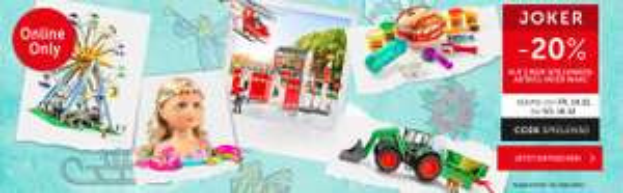 interspar onlineshop 20% Rabatt auf ein Spielzeug