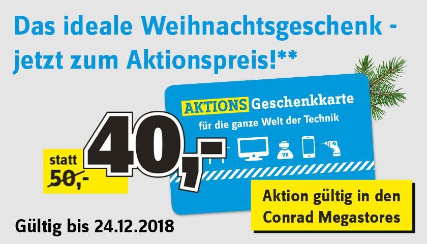 [Conrad] 50€ Geschenkkarte kaufen und nur 40€ bezahlen