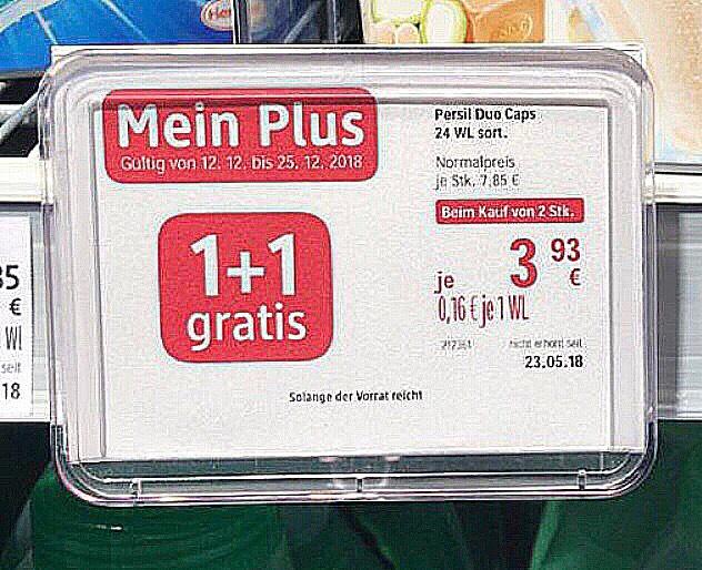 1+1 Gatis - Persil Duo Caps für nur je 3,93€