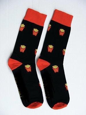 Gratis Pommes-Socken bei Mc Donalds