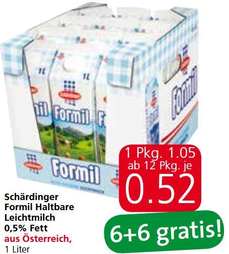[Spar / Eurospar / Interspar] Schärdinger Formil Halbfettmilch 6+6 gratis