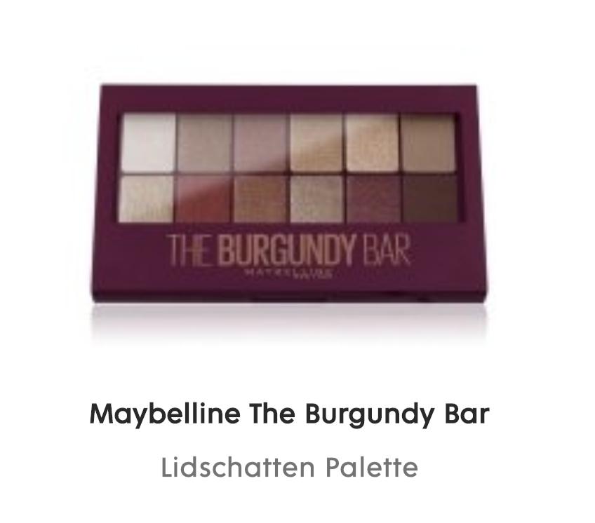 Flaconi: gratis Maybelline The Burgundy Bar Lidschatten Palette ab 15€ MBW
