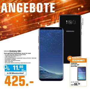 [Saturn ab 01.01.2019] Samsung Galaxy S8 Plus 64GB - Midnight Black + SAMSUNG Galaxy Tab E 9.6 Zoll Wifi, schwarz um 425,-€