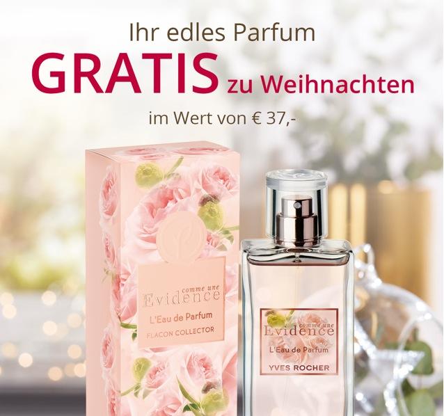 Yves Rocher: Gratis Parfum Comme une Evidence 50 ml gratis zur Bestellung + Versandkostenfrei + Geschenk