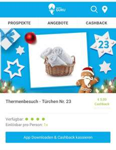 5€ Cashback bei Thermenbesuch ab 10€