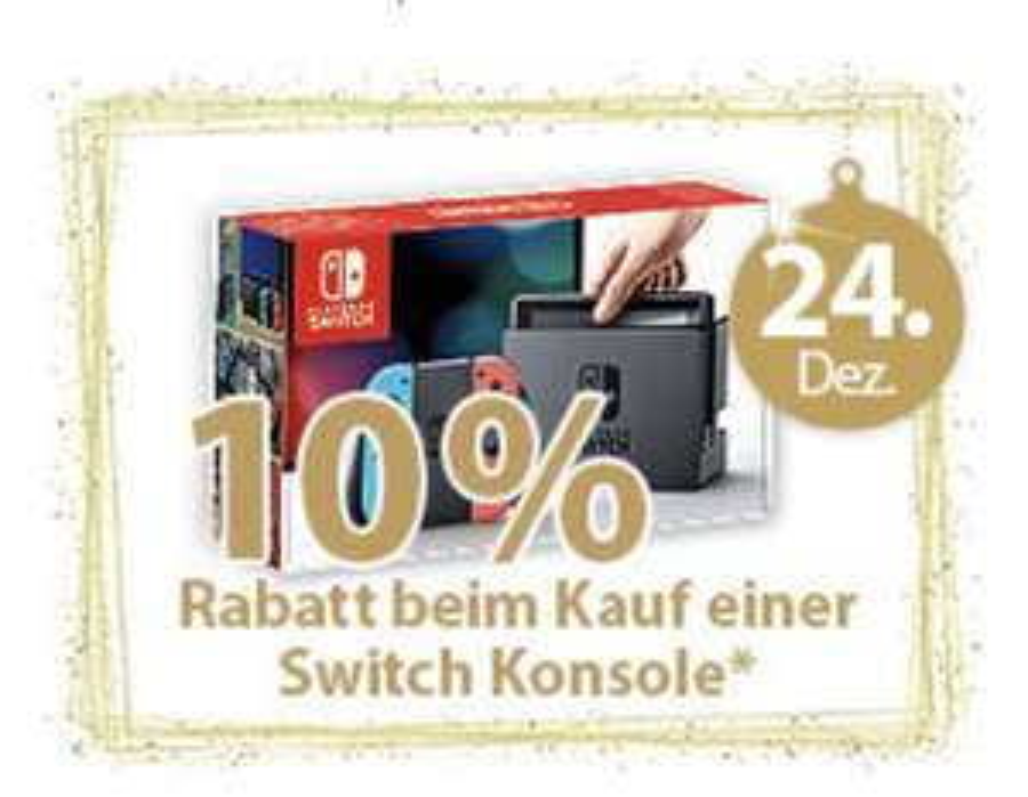(Müller Lokal) Nur am 24.12 -10% auf alle Nintendo Switch Konsolen
