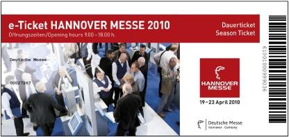 """Aktionscodes für gratis e-Tickets der """"Hannover Messe 2010"""""""