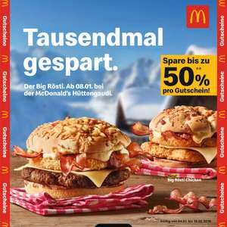 McDonald's Bonusbuch - bis 18.2.2019