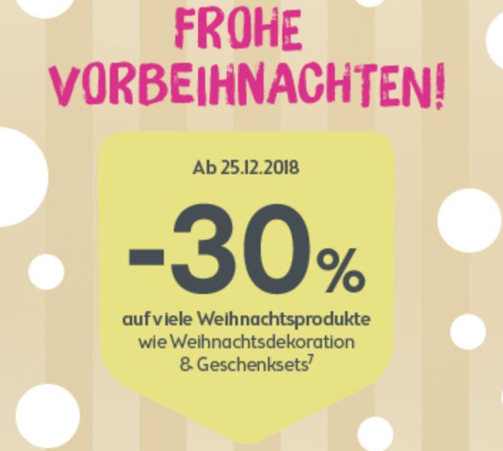 Bipa: -30% auf viele Weihnachtsprodukte wie Weihnachtsdekoration und Geschenkesets