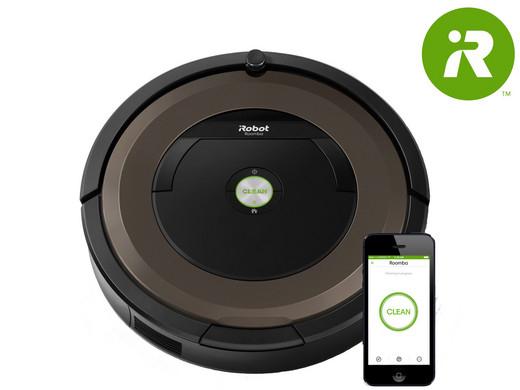iRobot Roomba 896 Saugroboter (0,6 L, AeroForce, Teppich, Hartböden, Laminat, Li-Ion, 60 Min) schwarz/braun für 358,90€