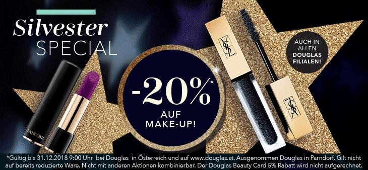 Douglas: 20% Rabatt auf Make-Up