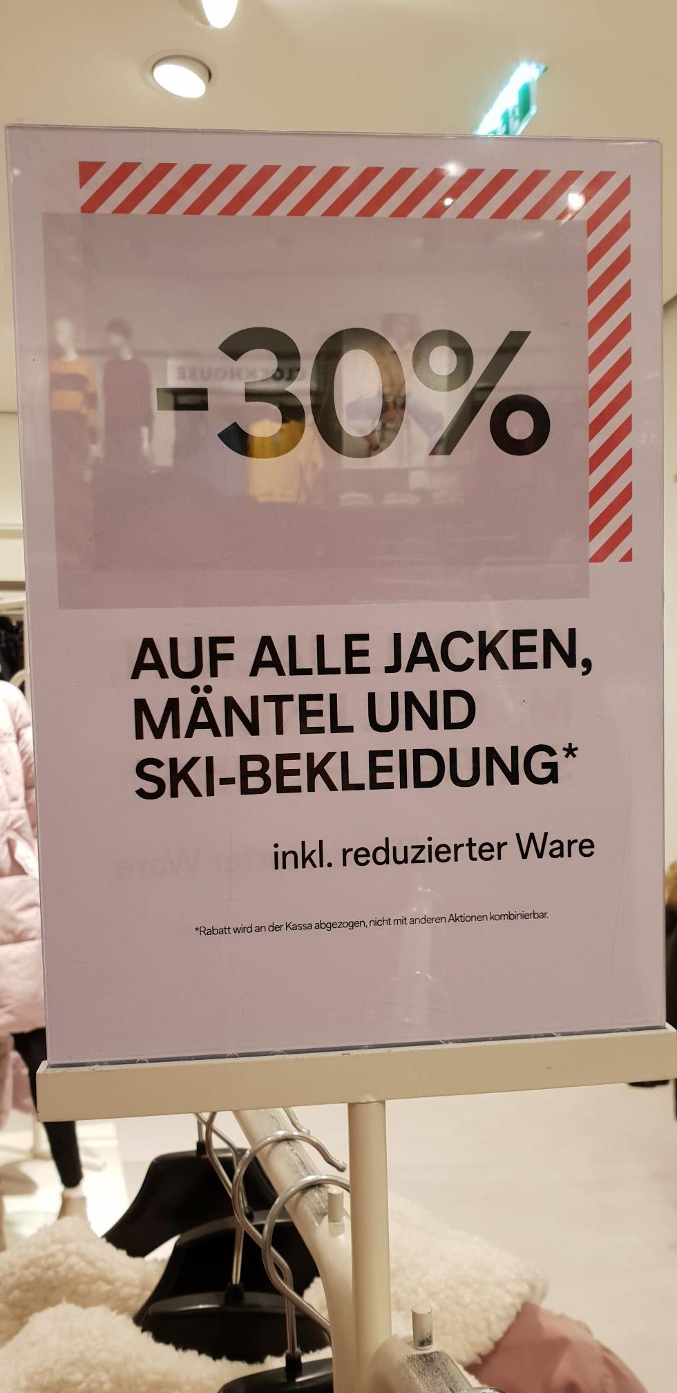 C&A -30% auf Jacken