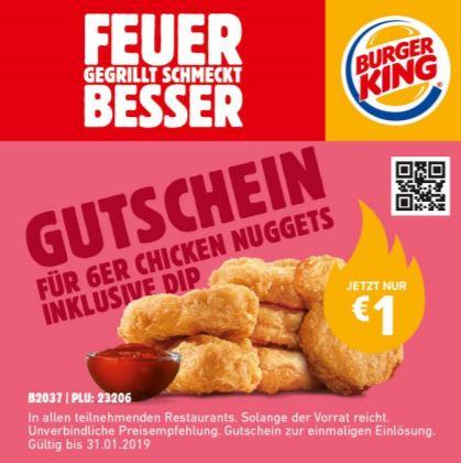 Burger King - 6er Chicken Nuggets Aktion