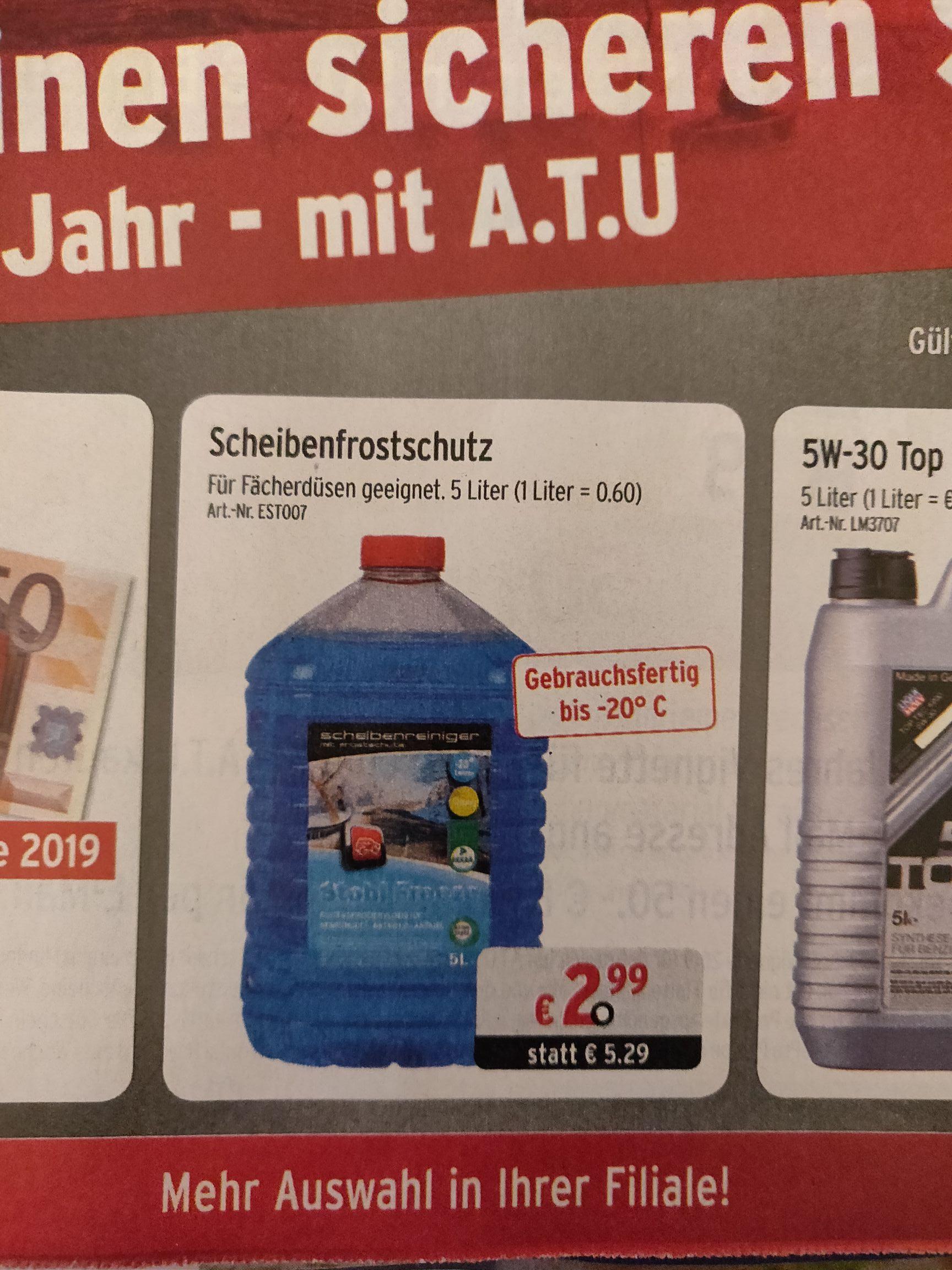 [ATU] 5L Frostschutz bis -20°C um nur 2.99€