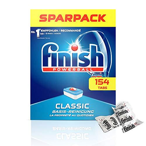Finish Classic Spülmaschinentabs, Geschirrspültabs für Basis Reinigung, Geschirrspülmittel Tabs, Sparpack, 154 Tabs für 11,39€