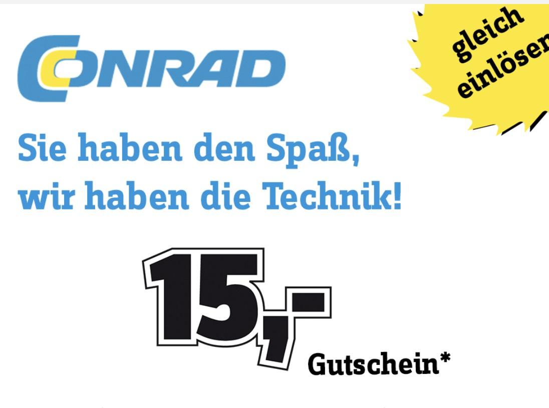 Conrad: 15€ Gutschein ab 75€