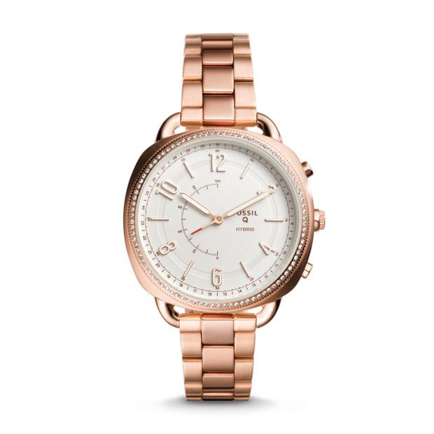 [Fossil] Fossil Q Accomplice Hybrid Damen-Smartwatch in Roségold für 59,40€