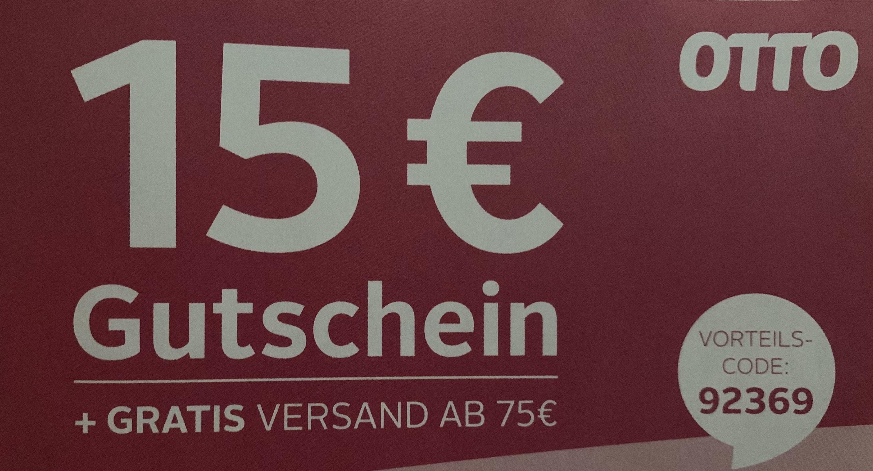 Otto: 15€ Gutscheincode ab 60€ Bestellwert.