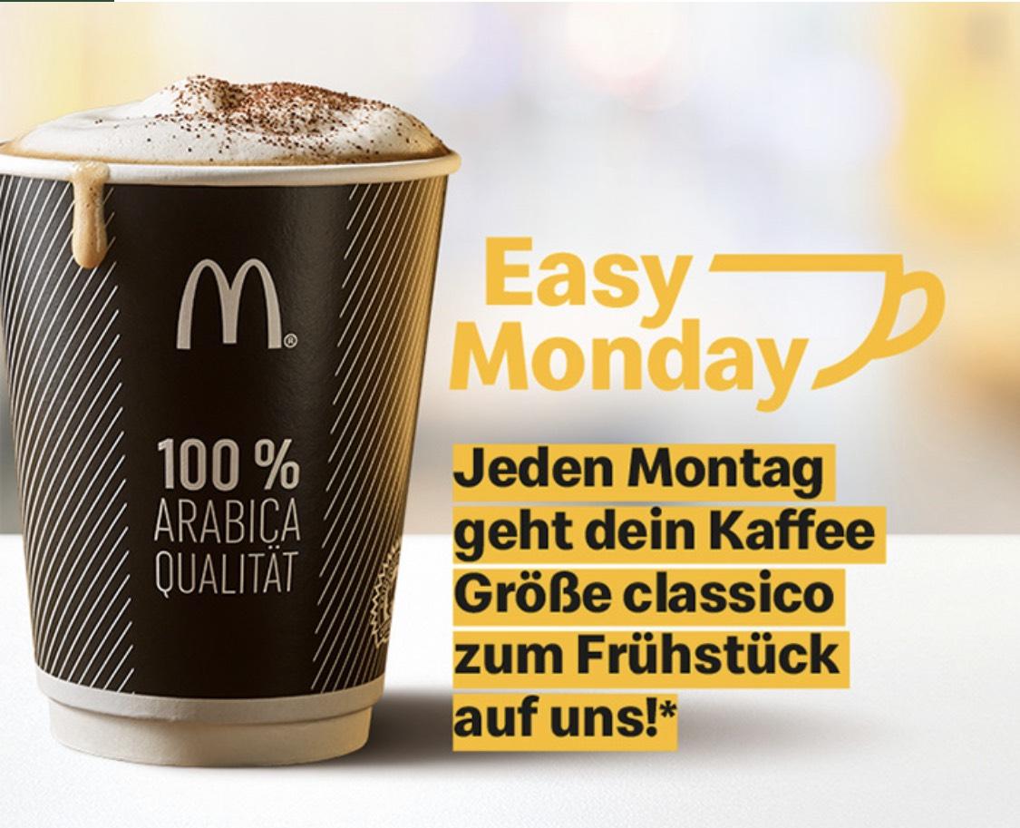 Gratis McCafe zu einem Frühstücksprodukt