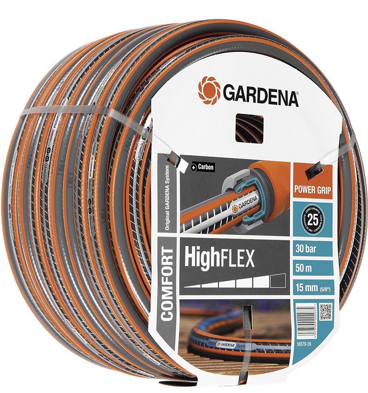 50m Gartenschlauch Gardena Highflex Comfort Ø 15 mm für 22,23€ (Amazon.es)