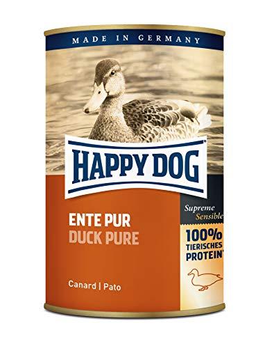 """www.AMAZON.de - 12 Stück  Happy Dog 400g Hundefutter """"Ente Pur"""" Vorbestellung  für Prime Kunden 8,46"""