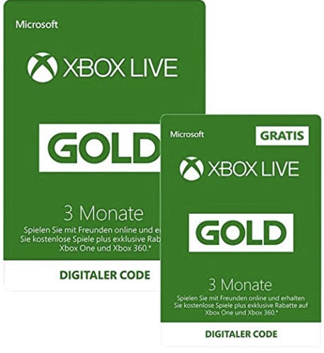Xbox One Live Gold Mitgliedschaft für 6 Monate