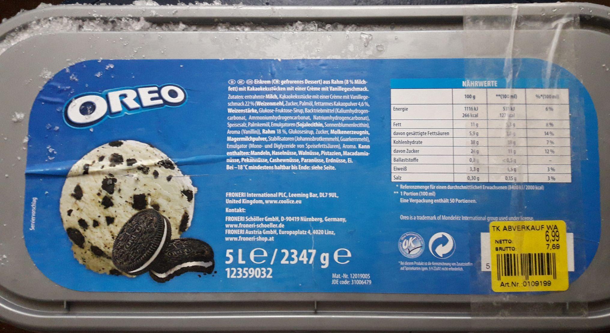[Metro] 5 Liter Oreo-/Milka-Eis Abverkauf