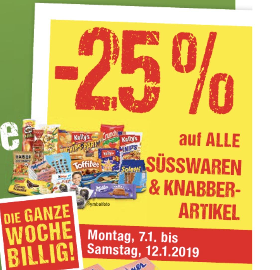 [Maximarkt] -25% auf alle Süsswaren & Knabberartikel