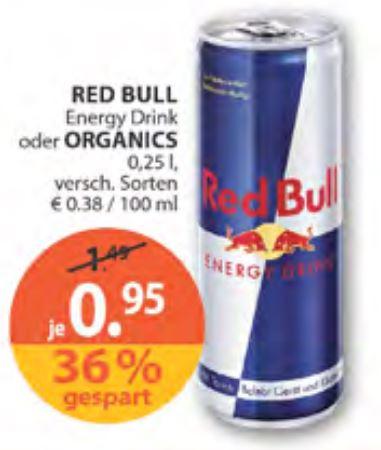 [Müller] Red Bull Energy Drink oder Organics für je 0,95 €