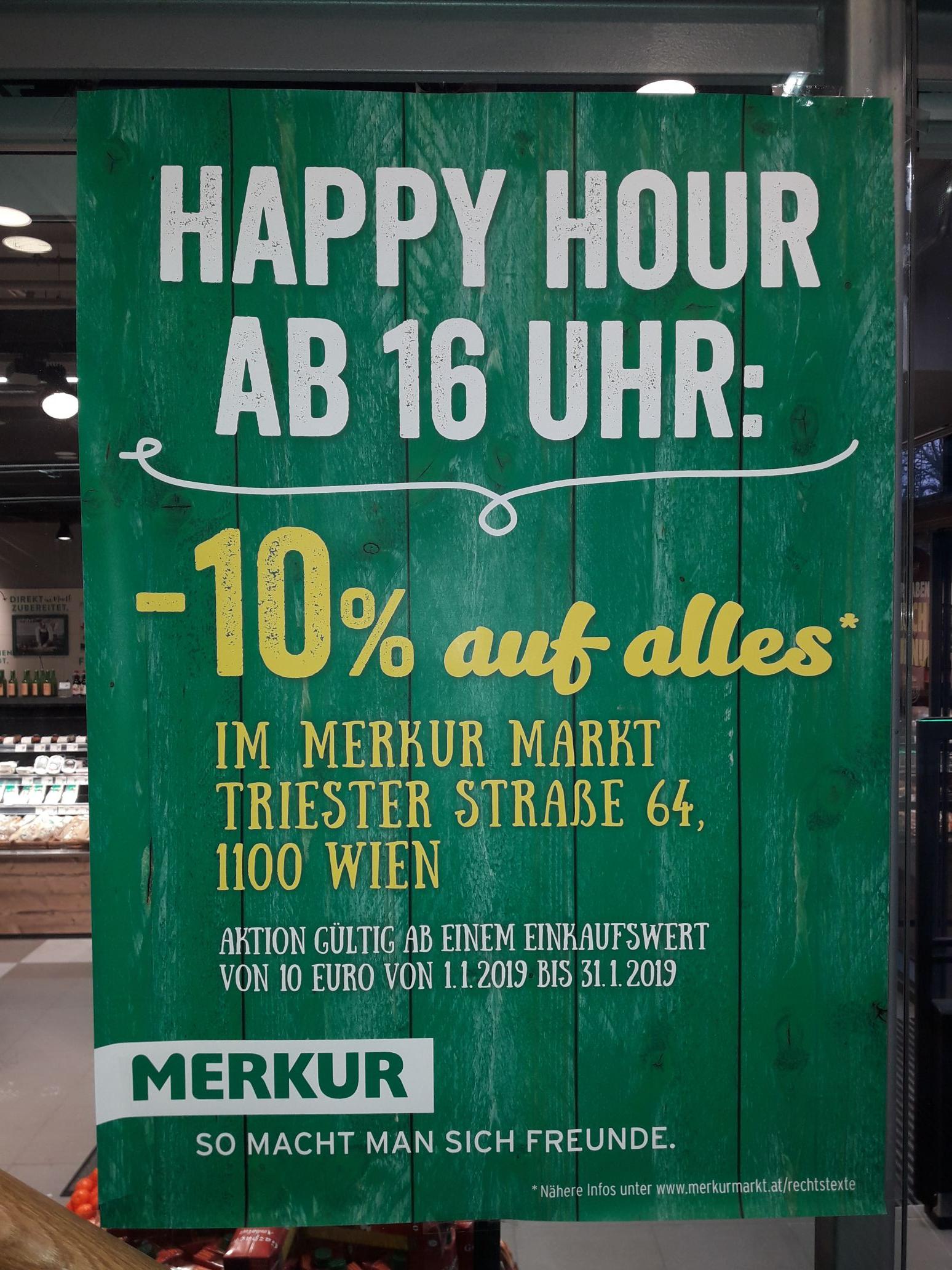 [Merkur Vienna Twin Tower] täglich ab 16:00 -10% auf alles ab 10€