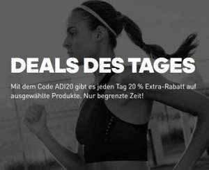 Adidas Deals des Tages mit ADI20 20% Rabatt