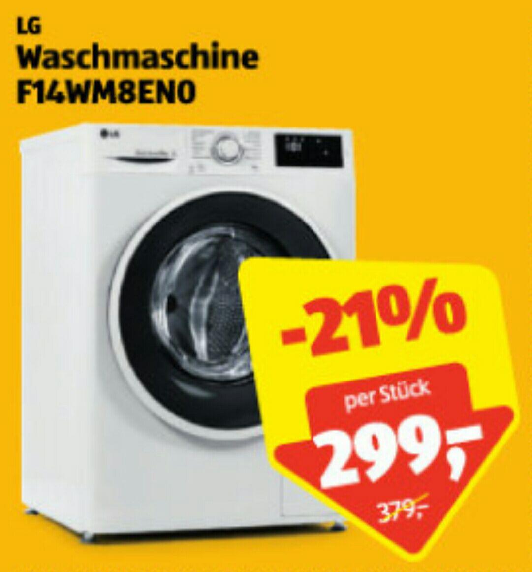 [Hofer] LG  Waschmaschine F14WM8EN0 (8kg Fassungsvermögen)