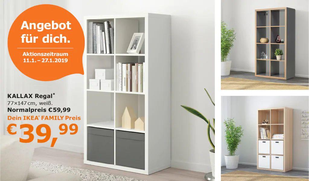 Ikea Family: Regal Kallax 77x147cm