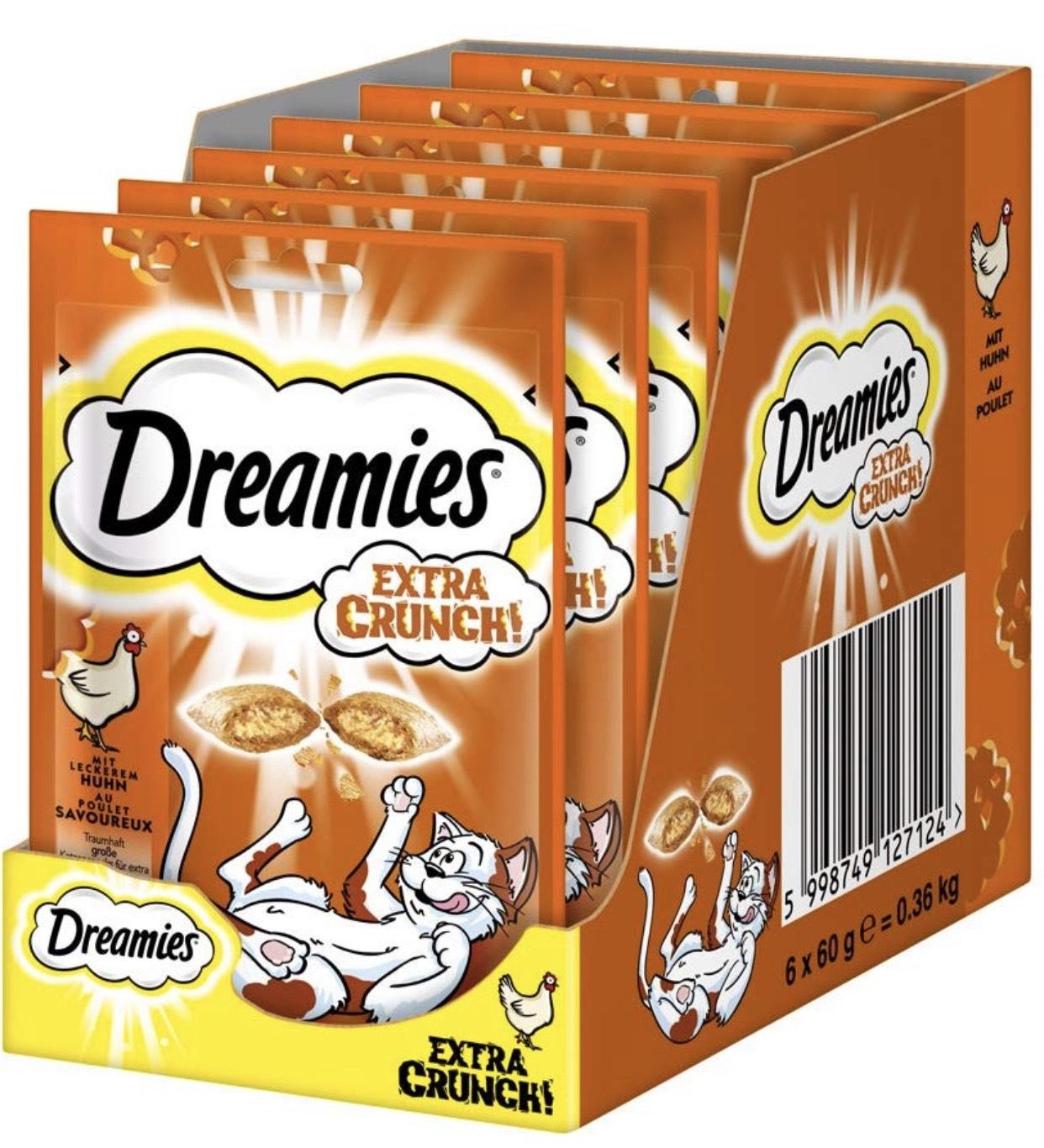 Dreamies Katzensnacks 6x60g verschiedene Sorten für 3,79€ im Spar-Abo