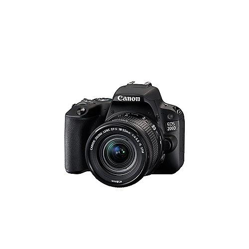 [PREISTIEF] Canon EOS 200D schwarz mit Objektiv EF-S 18-55mm 4.0-5.6 IS STM + shoop cashback