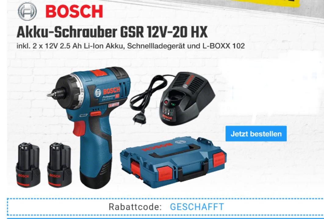 handlicher Bosch Akkuschrauber