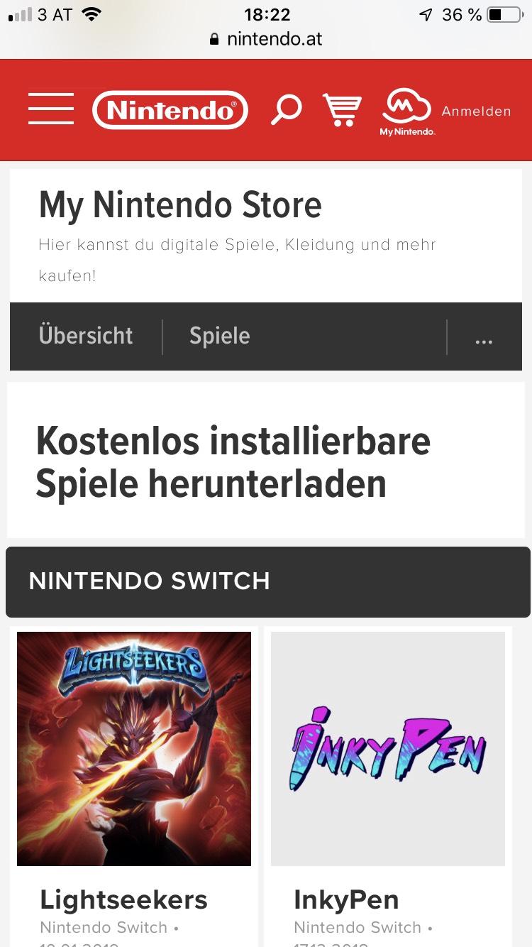 www.nintendo.at: 37 Spiele kostenlos herunterladen