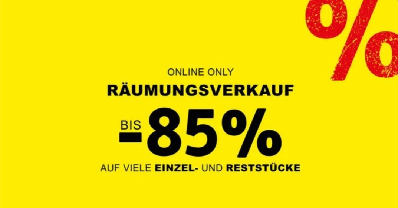 XXXLutz Räumungsverkauf NUR ONLINE bis -85%