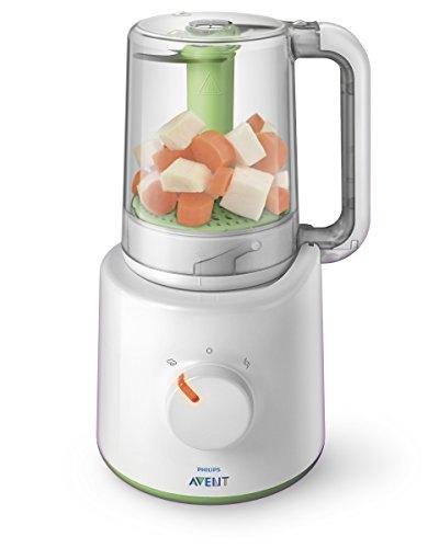 Philips Avent 2-in-1 Babynahrungszubereiter SCF870/20, Dampfgaren und Mixen