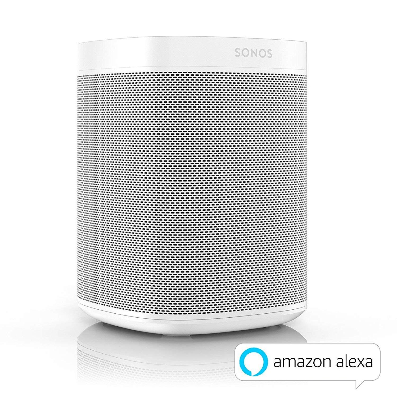 [Amazon.es] Sonos One weiß/schwarz mit Amazon Alexa